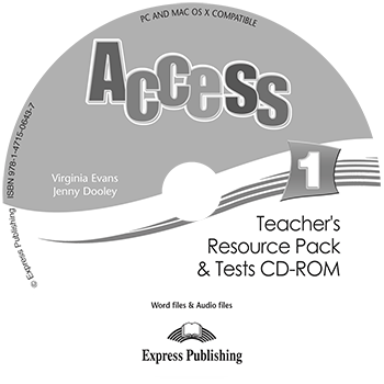 Access 1 - Teacher's Resource Pack & Tests CD-ROM