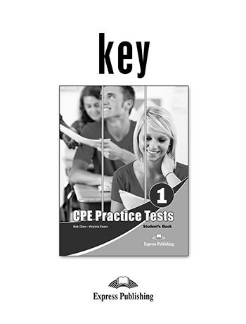 CPE Practice Tests 1 - Key