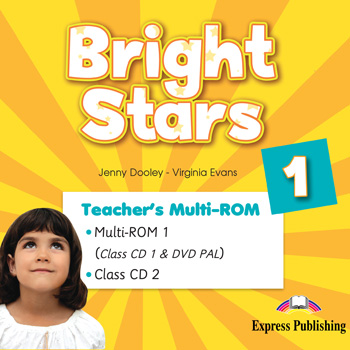 Bright Stars 1 - Teacher's Multi - ROM (Class CDs, DVD PAL)
