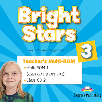 Bright Stars 3 - Teacher's Multi - ROM (Class CDs, DVD PAL)