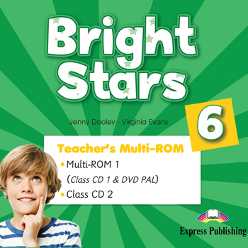 Bright Stars 6 - Teacher's Multi - ROM (Class CDs, DVD PAL)