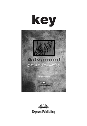 Advanced Grammar & Vocabulary - Key