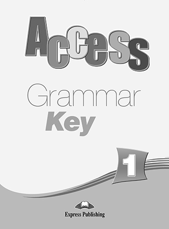 Access 1 - Grammar Book Key