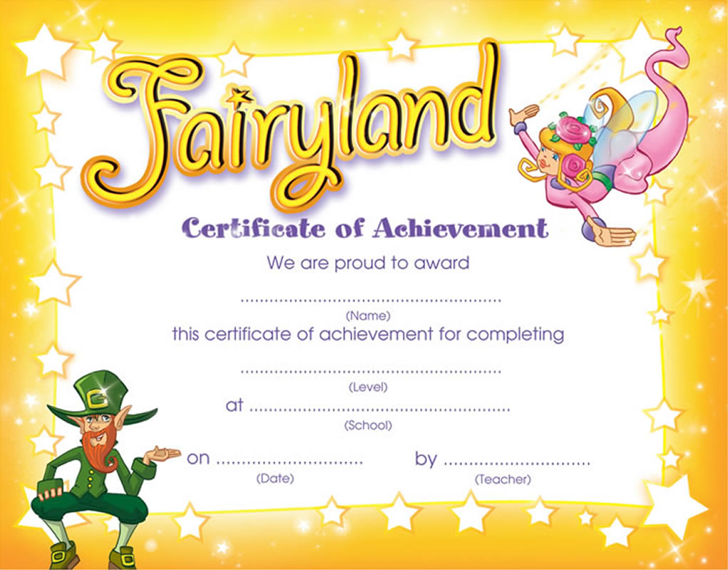 funny certificate of achievement